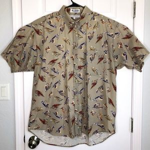 Columbia Size Large Fishing Lure SS Camp Shirt